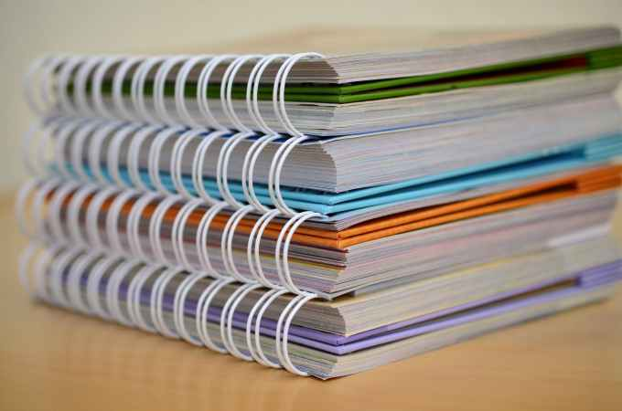 binding books bound colorful